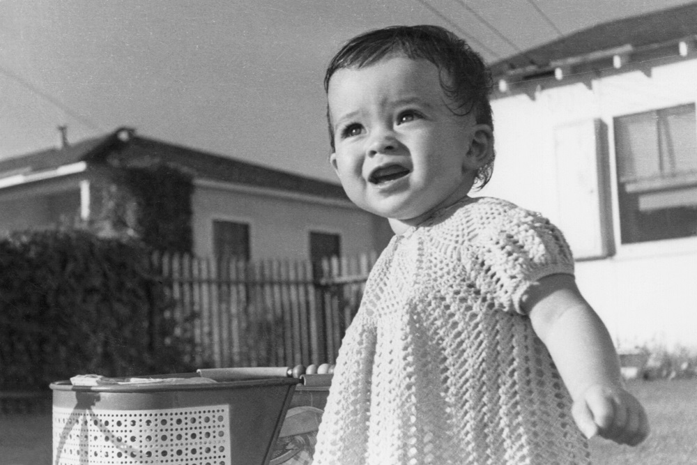 Vintage image of toddler