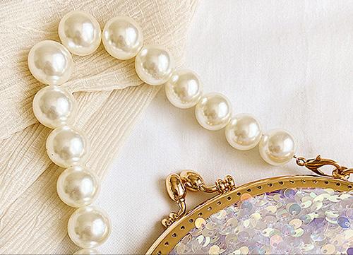 Fashion Sequin Mini Pearl Clutch Bling Purse Glitter Teen Girls Women Shoulder Evening Chain Handbag1